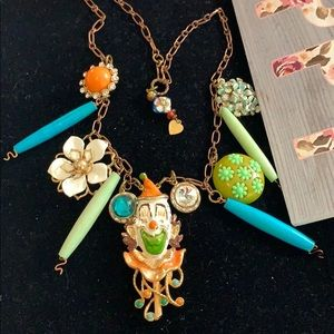 ⭐️Adorned Crown clown brightly colored necklace